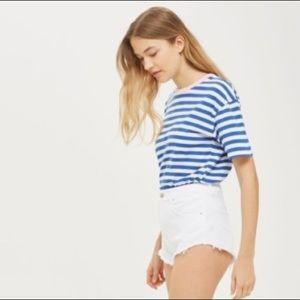 NEW Topshop Kiri white denim shorts